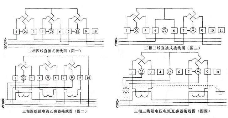 dts1666 三相电表    电能表应按照接线图进行接线