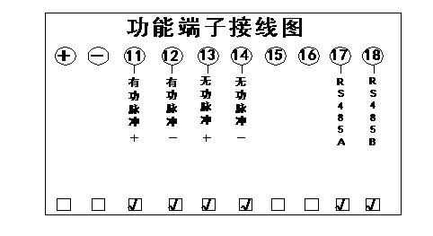 1)功能端子接线图